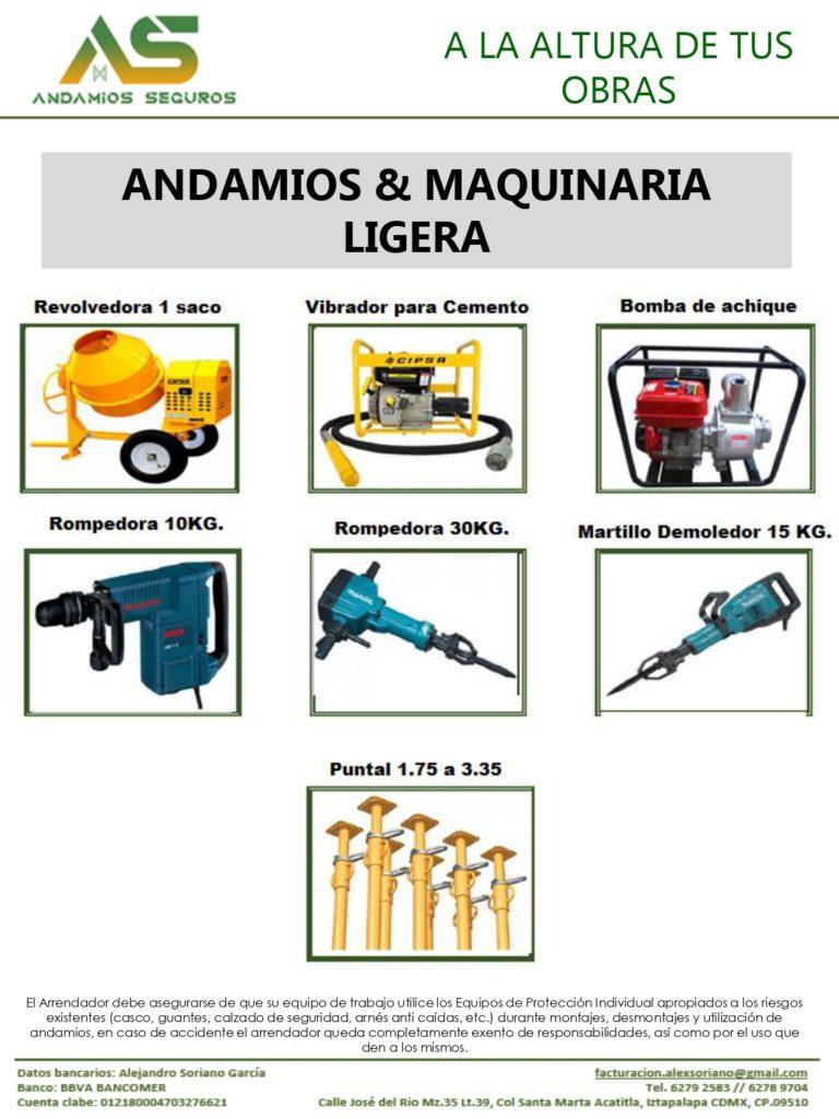 Andamios Seguros | catalogo maquinaria